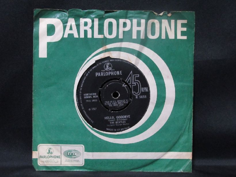 20 Original Parlophone Record Lable Company Sleeves Con Vg To Ex Music